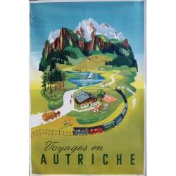 Original vintage poster Voyages en Autriche - Atelier KOSZLER