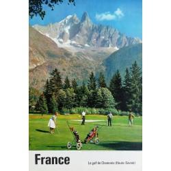 Original vintage poster Le golf de Chamonix (Haute-Savoie)