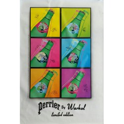 Affiche originale Perrier by WARHOL Limied edition - 170 cms x 120 cms - Andy WARHOL