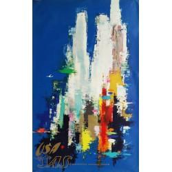 Original vintage poster SAS USA New-York - Otto NIELSEN