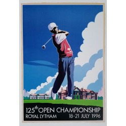 Original poster 125th open championship Royal Lytham 18-21 July 1996