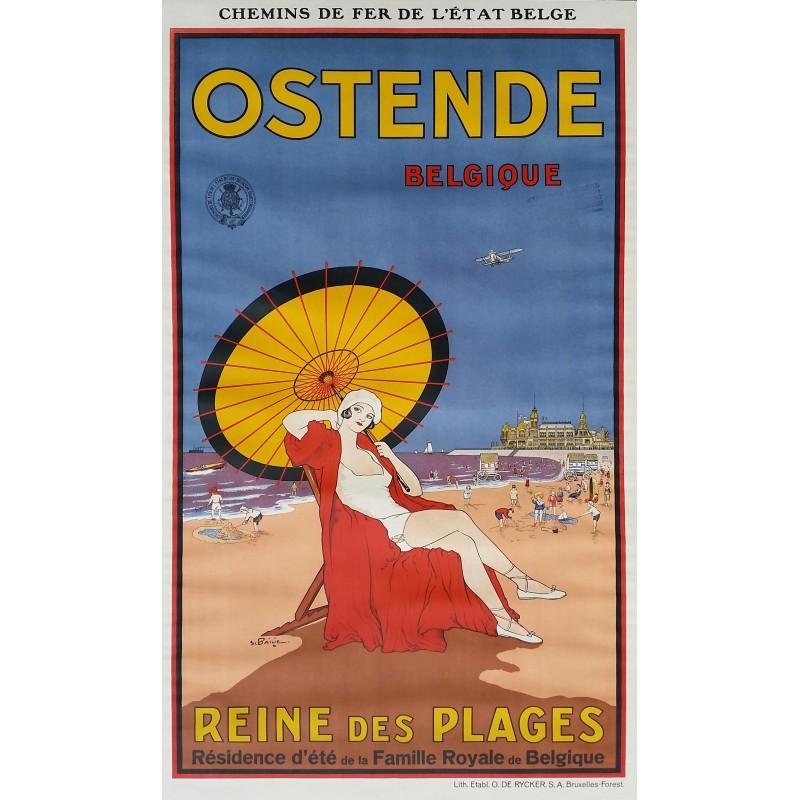 Original vintage poster Ostende Belgique Reine des Plages - BAILIE Samuel Colville