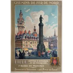 Original vintage poster Chemin de fer du Nord  LILLE  Centre d'affaires et de tourisme - ALO