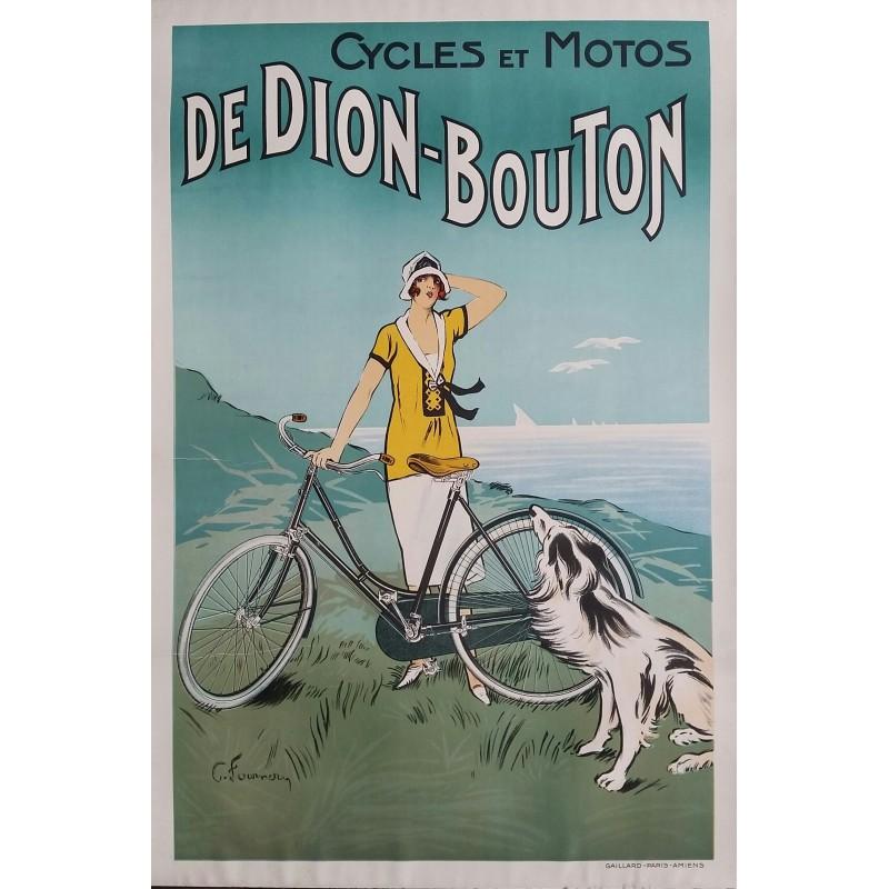 Affiche ancienne originale Cycles et Moto De Dion-Bouton - C FOURNERY