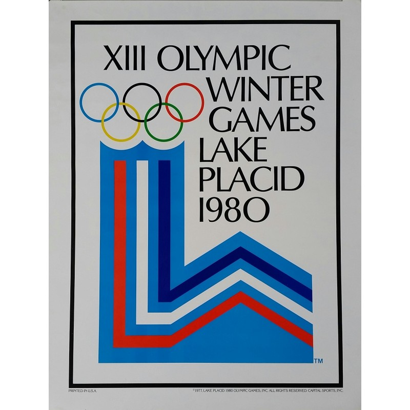 Vintage poster XIII Olympic Winter games Lake Placid 1980