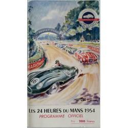 Old original program 24 heures du mans 1954 cover GEO HAM