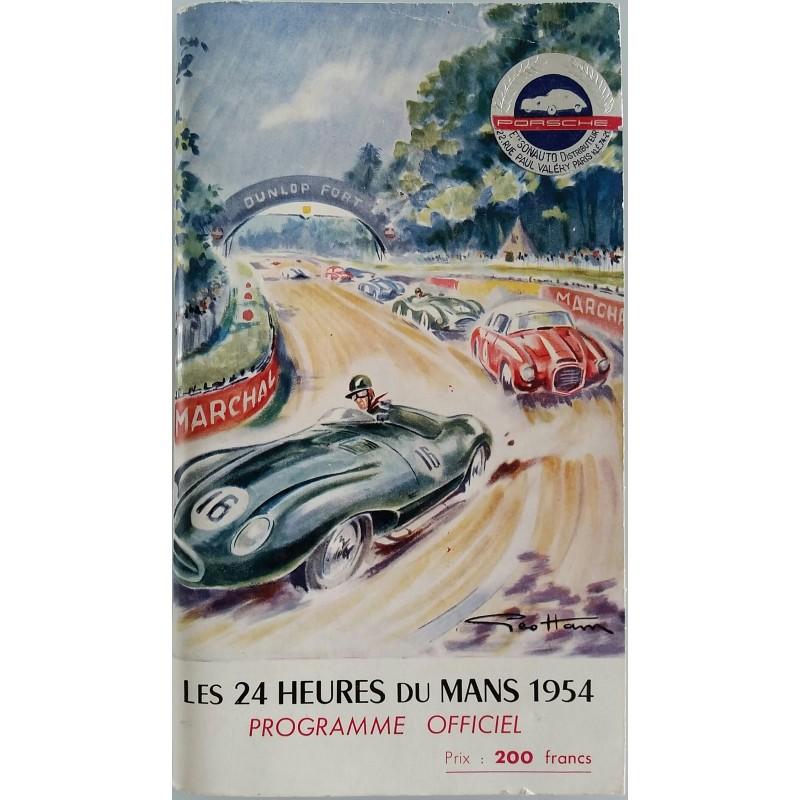 Programme ancien original officiel des 24 heures du mans 1954 couverture GEO HAM