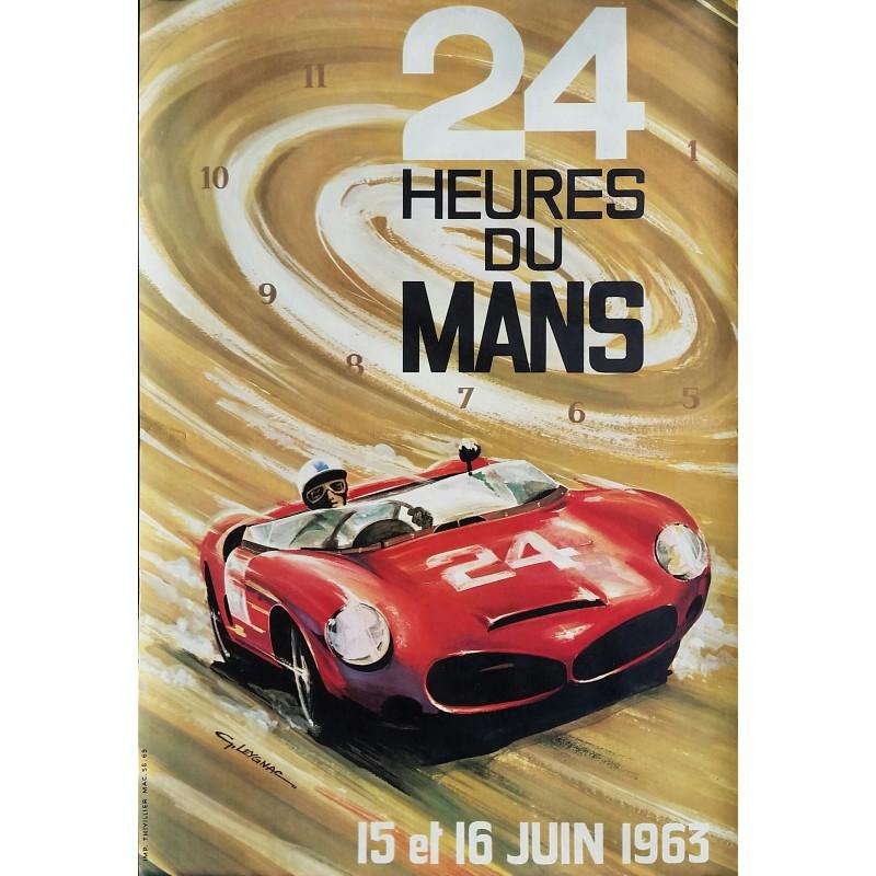 Original vintage poster des 24 heures du mans 1963 - LEYGNAC