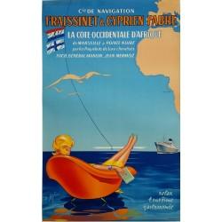 Affiche ancienne originale Fraissinet et Cyprien Fabre Relax Tourisme Gastronomie - E ASTIER