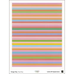 Affiche originale Jeux olympique de Londres 2012 - Bridget RILEY