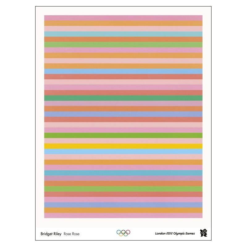 Original poster Olympic games London 2012 - Bridget RILEY