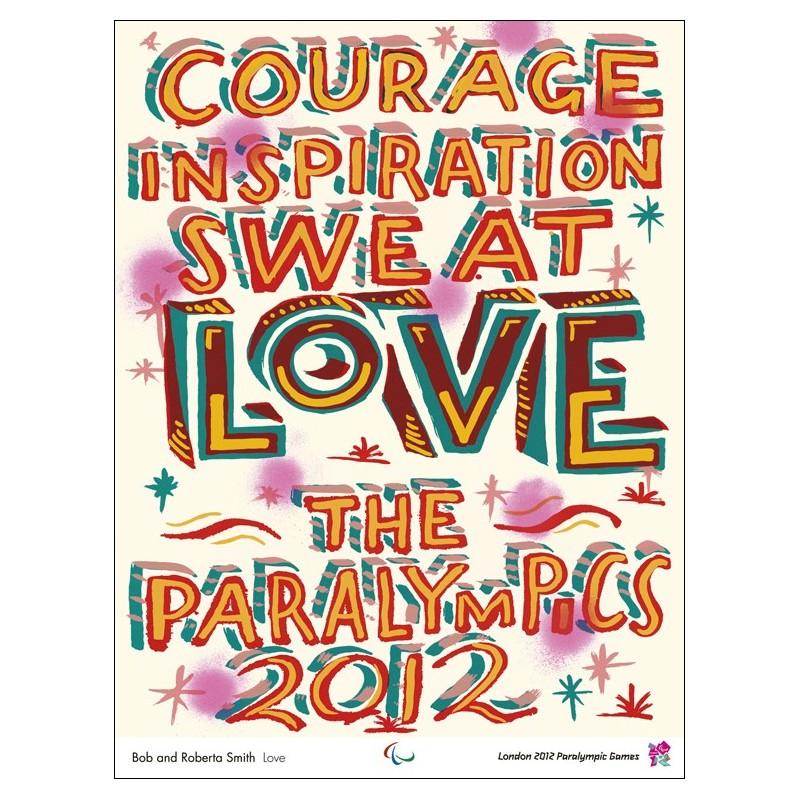 Original poster Paralympic games London 2012 Love - Bob and Roberta SMITH