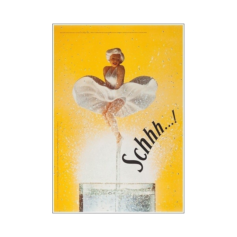 Original poster Schweppes Marylin Schhh 67 x 45 inches