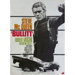 Original vintage cinema poster Bullitt Steve McQueen - 1968 - Michel LANDI