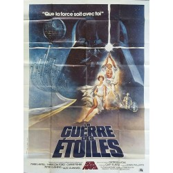 Affiche ancienne originale cinéma La Guerre des étoiles Star Wars France 160 x 120 cms