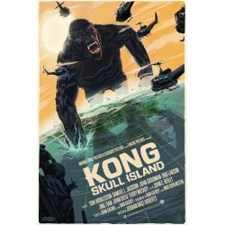 Affiche originale édition limitée Kong Skull Island - Francesco FRANCAVILLA - Galerie Mondo