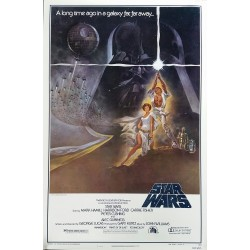 Original vintage cinema poster Star Wars NSS 77/21 One sheet Style A