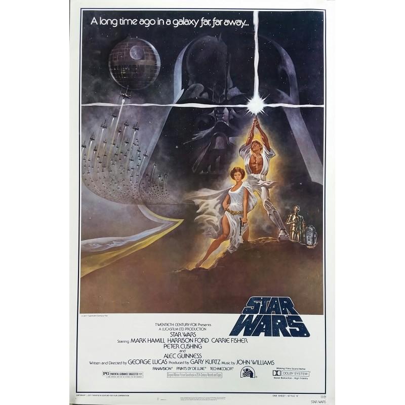 Original vintage cinema poster Star Wars NSS 77/21 One sheet Style A