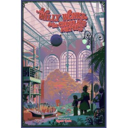 Original silkscreened poster limited variant edition Willy Wonka & the chocolate factory - Laurent DURIEUX