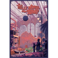 Original silkscreened poster limited edition Willy Wonka & the chocolate factory - Laurent DURIEUX