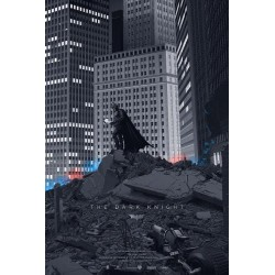Original silkscreened poster limited edition The Dark Knight - Laurent DURIEUX - Mondo