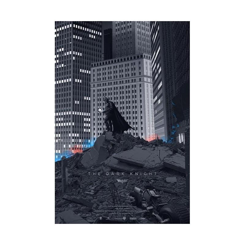 Original silkscreened poster limited edition The Dark Knight - Laurent DURIEUX - Mondo