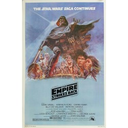Original vintage cinema poster The Empire Strikes Back Star Wars One sheet Style B