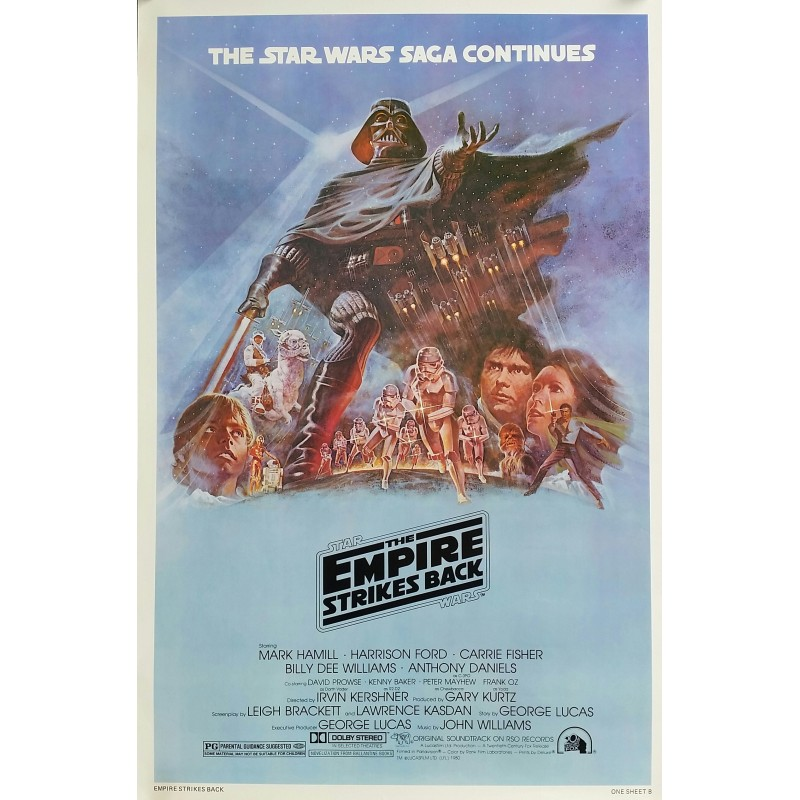 Original vintage cinema poster The Empire Strikes Back Star Wars One sheet Style B