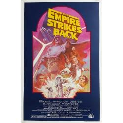 Original vintage cinema poster The Empire Strikes Back Star Wars One sheet Rerelease 1982