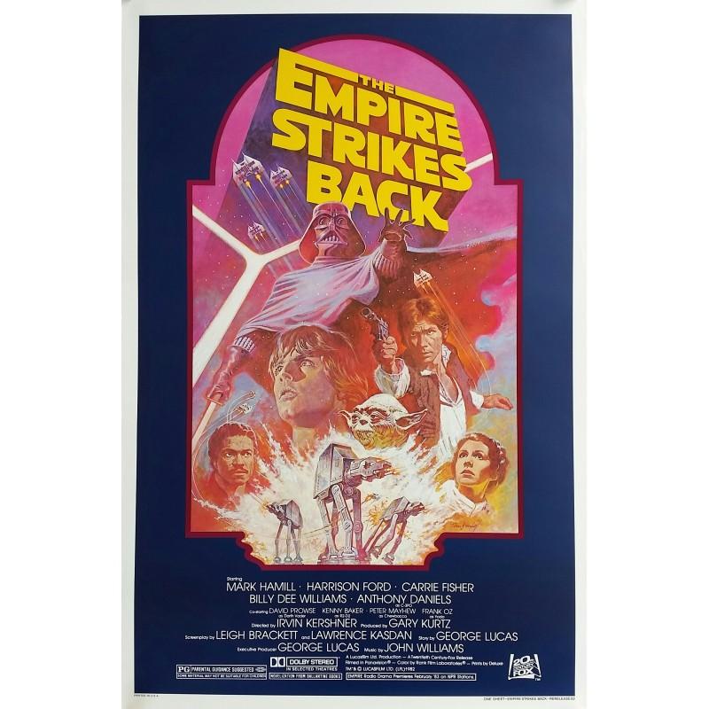 Affiche ancienne originale cinéma The Empire Strikes Back Star Wars One sheet Rerelease 1982