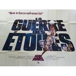 Original vintage cinema poster Star Wars La Guerre des étoiles France 200 x 150 cms