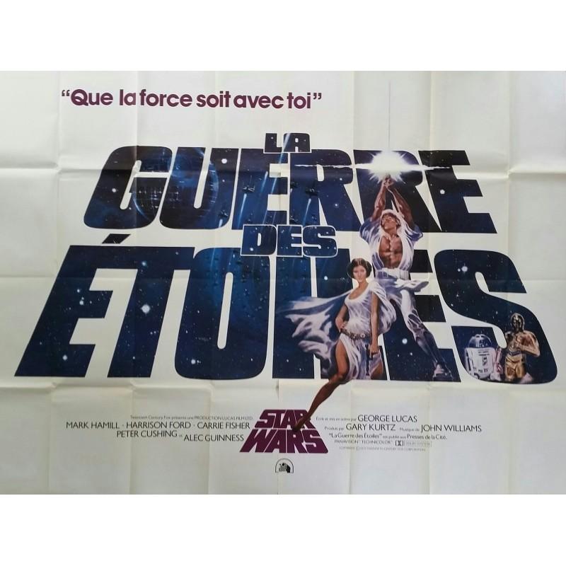 Affiche ancienne originale cinéma Star Wars La Guerre des étoiles France 200 x 150 cms