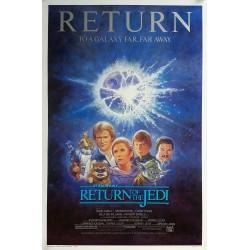 Original vintage cinema poster Return of the Jedi Reissue 1985 Star Wars
