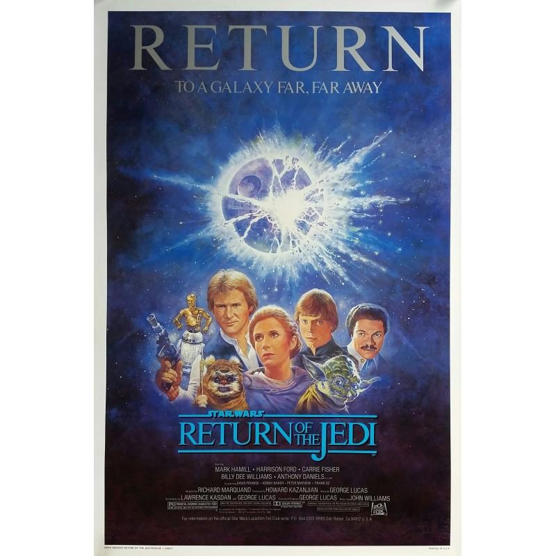 Affiche ancienne originale cinéma Return of the Jedi Reissue 1985 Star Wars