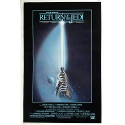 Affiche ancienne originale cinéma Return of the Jedi One sheet Style A Star Wars