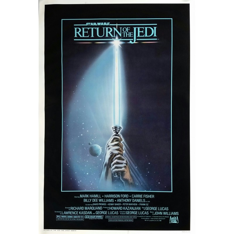 Affiche ancienne originale cinéma Return of the Jedi One sheet Style A Star Wars