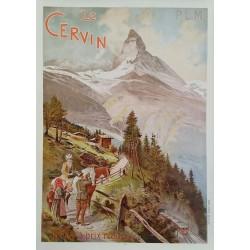 Affiche ancienne originale Le Cervin PLM 1900  - Louis Trinquier-Trianon