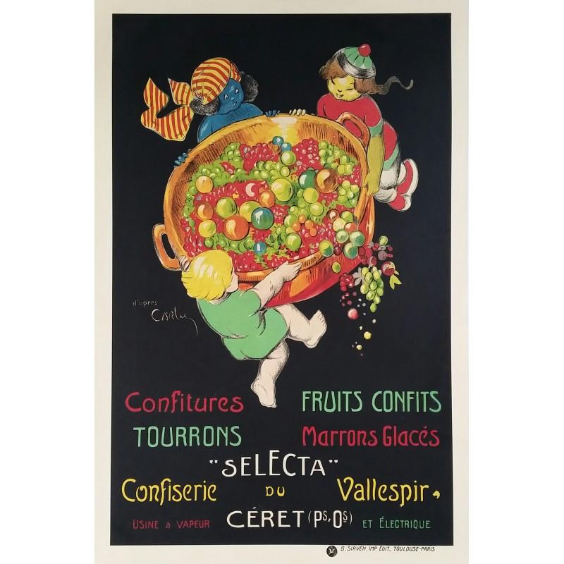 Original vintage poster Selecta Confiserie du Vallespir à Céret - Jean Carlu