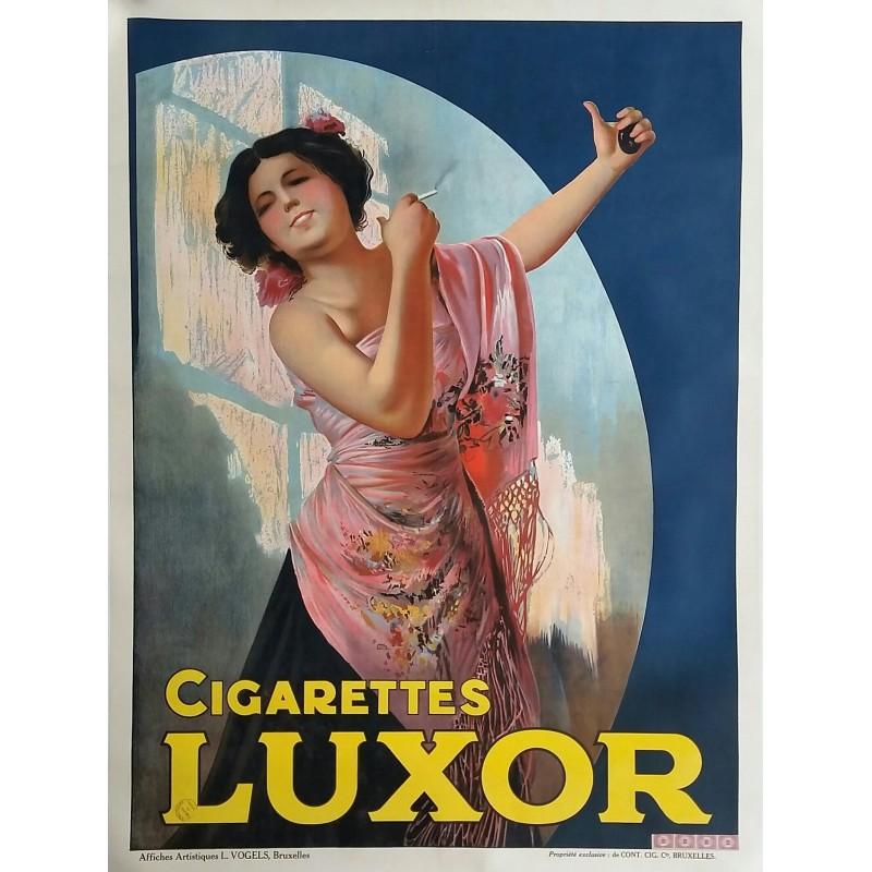 Affiche ancienne originale Cigarettes LUXOR 160 x 120 cms