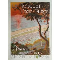Original vintage poster Le Touquet Paris Plage - Le paradis des sports