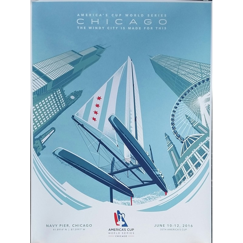 Affiche originale America's cup world series Chicago 2016