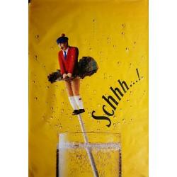 Affiche originale Schweppes Schhh Ecossais en kilt 170 cms x 115 cms