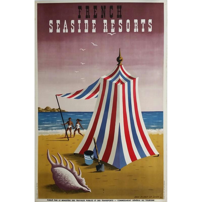 Original vintage poster France seaside resorts 1947 - Jean Picart Le Doux