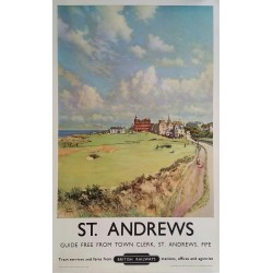 Original vintage poster St Andrews Golf Royal and Ancient British Railways MCINTOSH