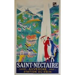 Affiche ancienne originale Saint-Nectaire Auvergne PLM DE VALERIO