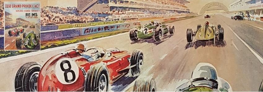 Automobile Affiches anciennes originales du sport automobile, 24 heures du mans, grand prix ...