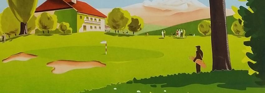Golf Affiches anciennes originales de golf
