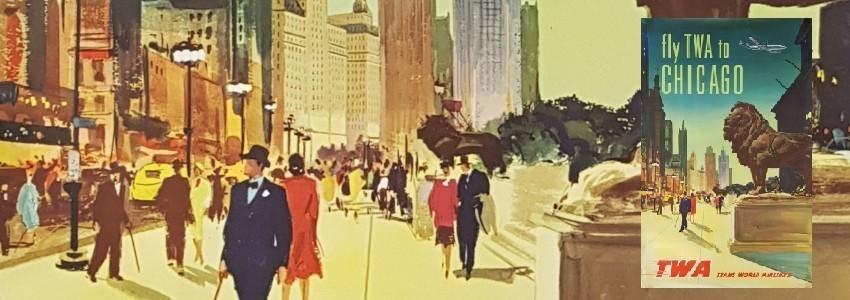 Ville Affiches anciennes originales de grandes villes comme Paris, Londres, New York, San Francisco ...