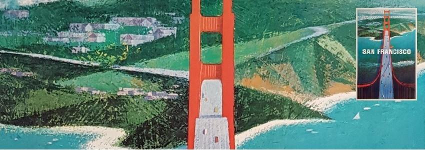 San Francisco Affiches anciennes originales pour la promotion de voyages à San Francisco