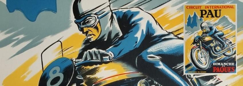 Motocyclisme Affiches anciennes originales du sport moto